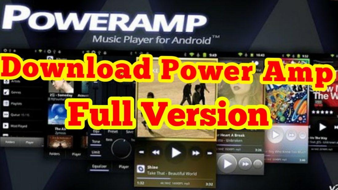 PowerAmp Full Version Unlocker Mod Apk & Power Amp Music Player