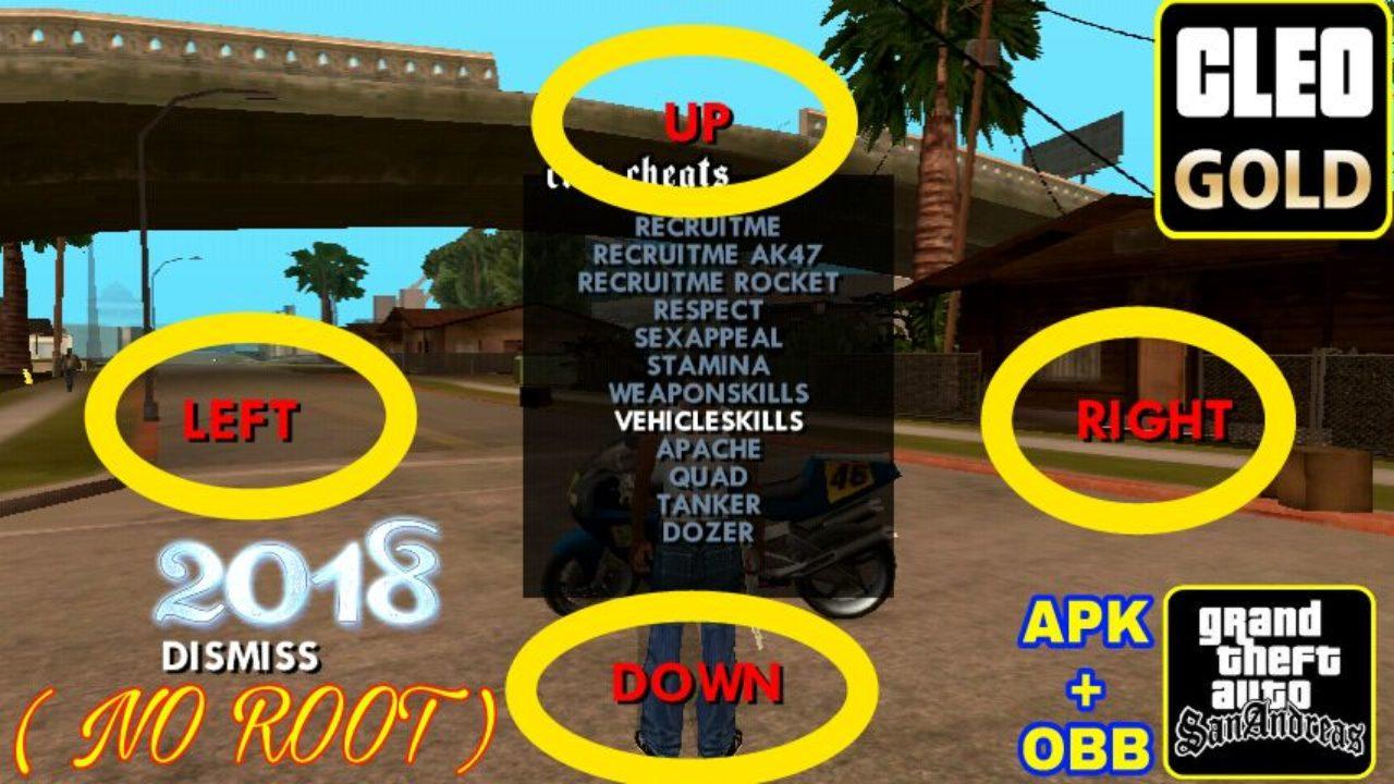 Gta San Andreas Apk Vs 1 08 Obb Cleo Mods No Root